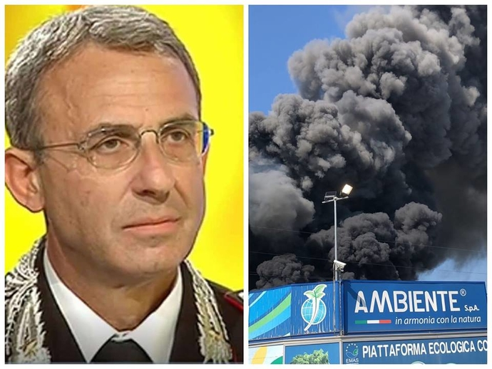 Incendio, San Vitaliano arriva a Roma