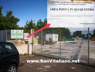 Isola ecologica sotto sequestro: i carabinieri non sono convinti della corretta gestione del sito