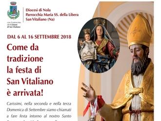 San Vitaliano, oggi la processione del Santo Patrono: ecco il palinsesto della giornata