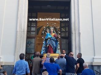Oggi, Maria SS della Libera in processione, fuochi ed il rientro di San Vitaliano nella Chiesa Madre