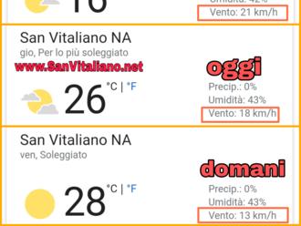San Vitaliano, vento scemato, ma non del tutto!