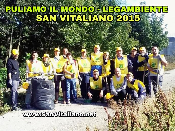 Ambiente, il ricordo di Puliamo il Mondo a San Vitaliano