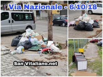 #Inciviltà: San Vitaliano, via Nazionale