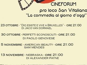 San Vitaliano, stasera parte il cineforum targato Pro loco: ecco tutte le date