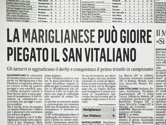 San Vitaliano cede di misura nel derby: vittoria alla mariglianese