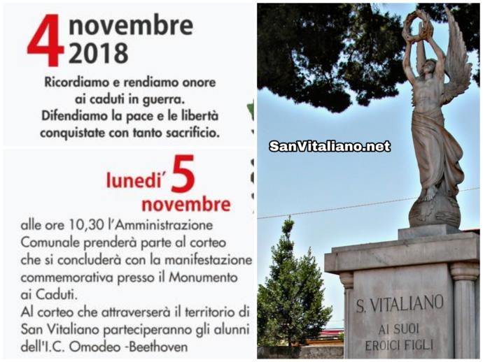 Celebrazione dei Caduti in guerra: il corteo di domani con Amministrazione e scuola