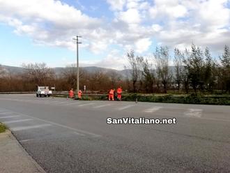 San Vitaliano, avviata la pulizia del verde di via Provinciale per Nola ( zona Cimitero)