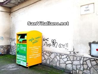 San Vitaliano, gli indumenti usati si riciclano: cerca la campana più vicina a casa tua