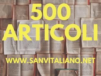 Festa in casa SanVitaliano.net: oggi il sito sfonda i 500 articoli