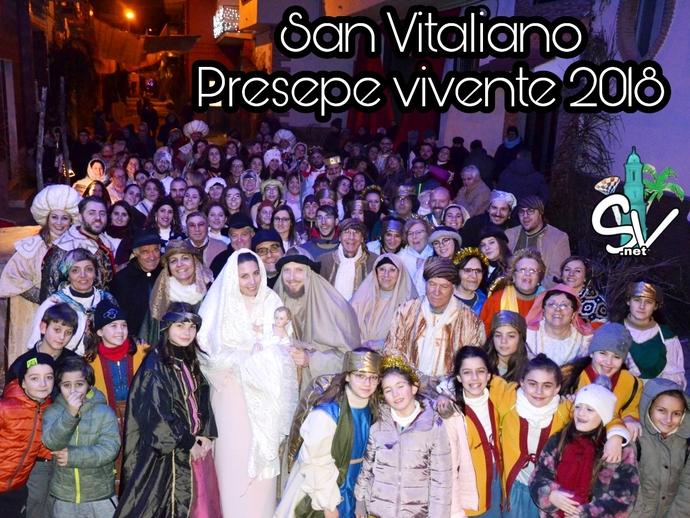 San Vitaliano, il Presepe vivente: un tuffo nel passato con la partecipazione di tutto il paese