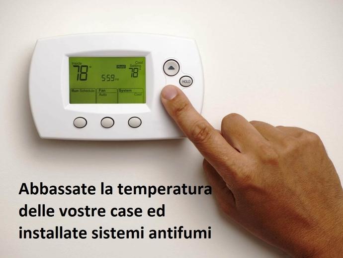 San Vitaliano, la ricetta antiPM10 del Sindaco Raimo: case a 19° e sistemi antifumi per i camini