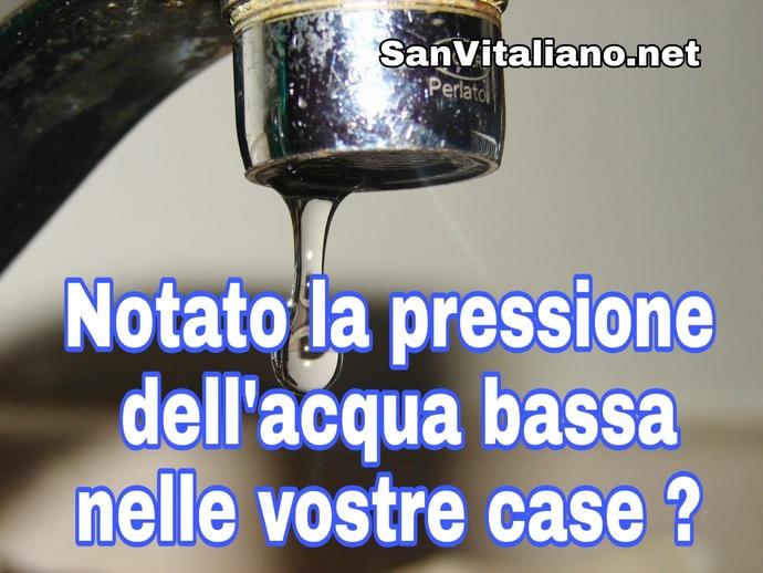 San Vitaliano, le segnalazioni: pressione bassa. Ma che succede?
