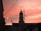 San Vitaliano, il Campanile al tramonto