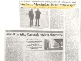 Il Sindaco Falcone ed il Vicesindaco Raimo incontrano il Basket di San Vitaliano