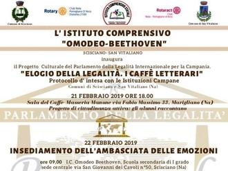 Il Parlamento Internazionale della Legalità passa per la scuola di San Vitaliano