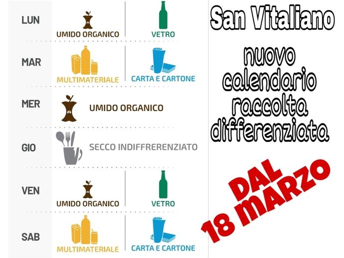 San Vitaliano, meno indifferenziato, più riciclabile: ecco come cambia il calendario della raccolta