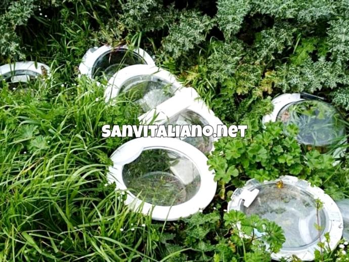 San Vitaliano, il cimitero delle lavatrici