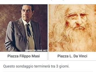 San Vitaliano, al via il sondaggio: piazza Filippo masi in luogo di Piazza Da Vinci?