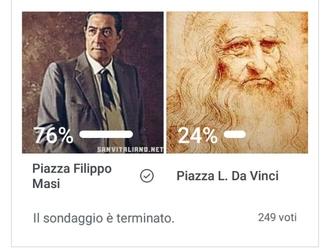San Vitaliano, il 76% vuole Piazza Filippo Masi  Sindaco