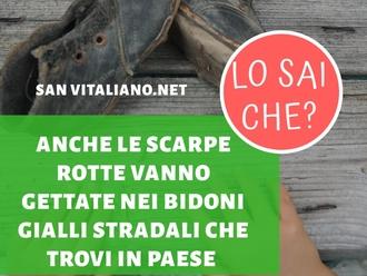 San Vitaliano, raccolta differenziata: anche le scarpe rotte nei bidoni degli indumenti usati