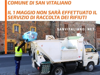 San Vitaliano, 1 maggio : non cacciate la spazzatura perché non sarà raccolta!