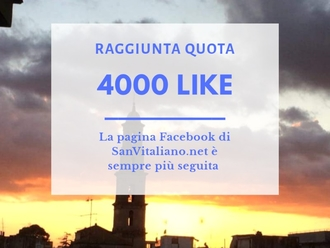 SanVitaliano.net: la pagina Facebook sfonda quota 4.000 like