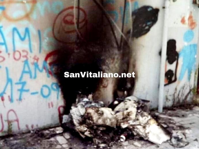 San Vitaliano, piccolo cumulo incendiato in stazione: ecco l
