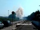San Vitaliano, Frascatoli: autostrade a fuoco, contattati i vigili del fuoco