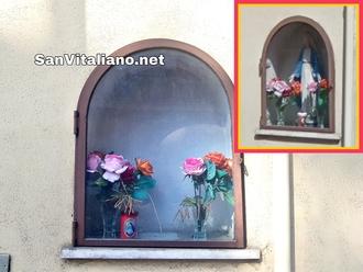 San Vitaliano, rubata la Madonnina di corso Frascatoli