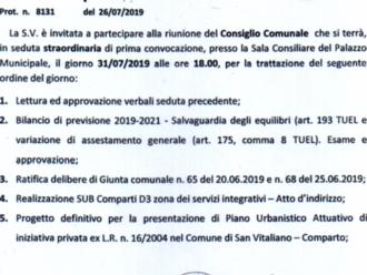 Partecipa alla vita politica di San Vitaliano: mercoledì il Consiglio Comunale