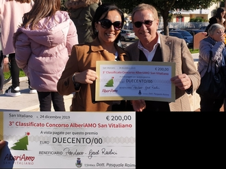 Concorso AlberiAMO San Vitaliano: Gad e Pro Loco devolvono premio in beneficenza
