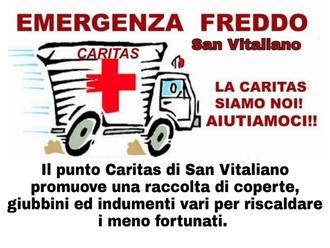 San Vitaliano, emergenza freddo: la Caritas ha bisogno di indumenti. C
