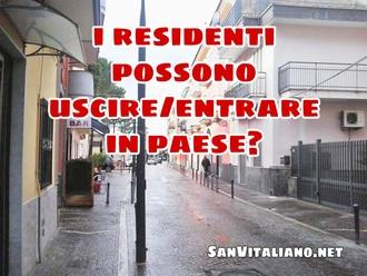 San Vitaliano, ordinanza antiPM10: i residenti possono uscire/entrare in paese?