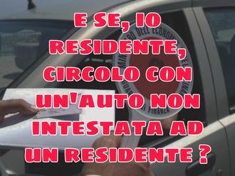 Ordinanza antiPM10: che accade se il residente è alla guida di un veicolo di un NON residente?