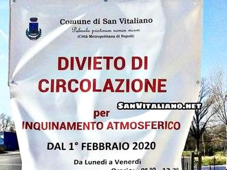 Polveri sottili a San Vitaliano: 3 giorni di sforamenti nei primi 3 giorni di ordinanza
