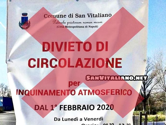 San Vitaliano, sospesa l
