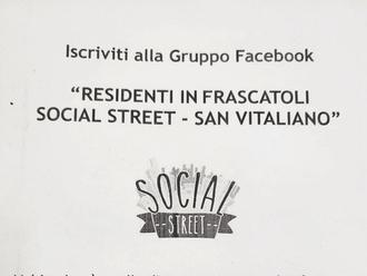 "Arriva il gruppo Facebook "" Residenti in Frascatoli - social street San Vitaliano"": partecipate!"