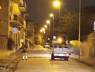 Misure AntiCoronavirus, eseguita stanotte la sanificazione delle strade di San Vitaliano