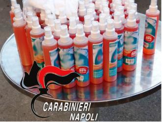 Coronavirus, Gel disinfettante falso trovato dai Carabinieri di San Vitaliano in un Supermercato