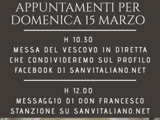 San Vitaliano, domenica senza messa: ecco gli appuntamenti di Don Francesco Stanzione