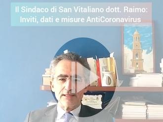 Inviti, dati e misure AntiCoronavirus, ecco il video del Sindaco di San Vitaliano dott. Raimo