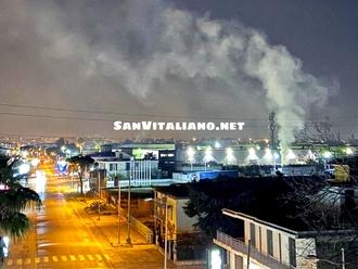 San Vitaliano, aria irrespirabile: brucia plastica !!!