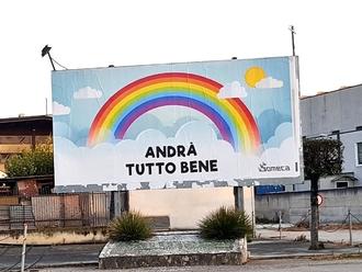 Andrà tutto bene, quel cartellone rincuorante alle porte di San Vitaliano
