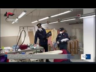 Mascherine non autorizzate vendute in tutta Italia, Carabinieri di San Vitaliano sequestrano fabbrica abusiva
