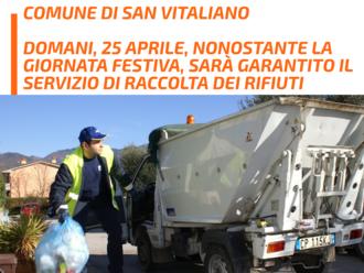 San Vitaliano, 25 aprile: confermato il servizio di raccolta differenziata