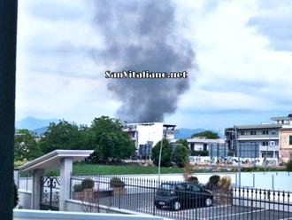Nuvolone nero su San Vitaliano? Cosa a fuoco?