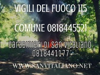 San Vitaliano, un incendio e non sai chi chiamare?