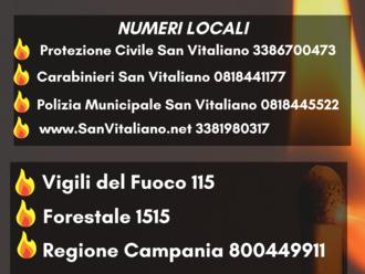 San Vitaliano, sai chi chiamare in caso di incendio ?