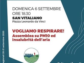 San Vitaliano, TERRA in piazza Da Vinci per denunciare l