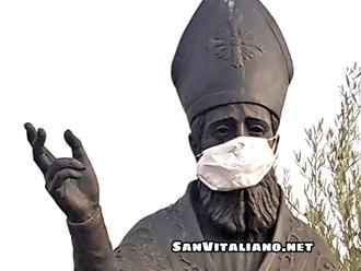 San Vitaliano con la mascherina: TERRA si reca dal Parroco Don Francesco Stanzione